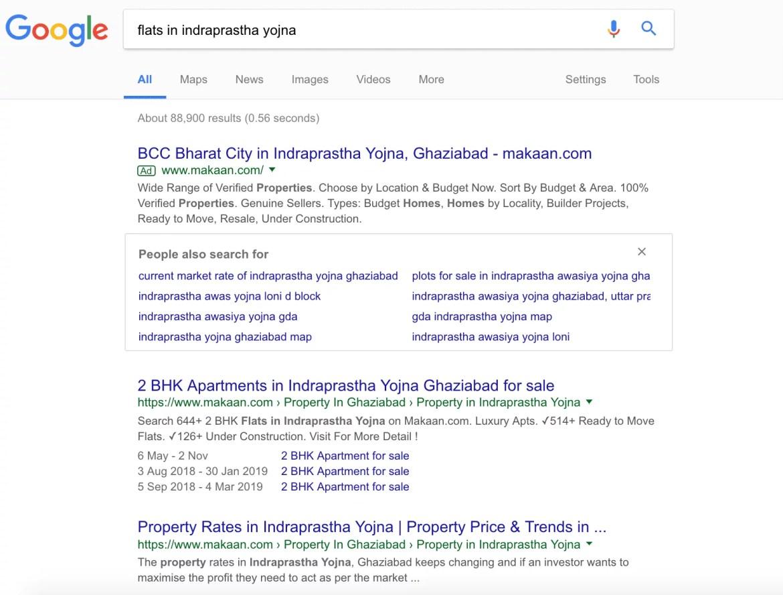 Google SERP Page