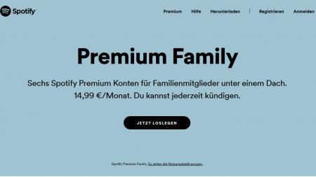 Spotify-Account: Familienmitglieder müssen selbe Adresse haben