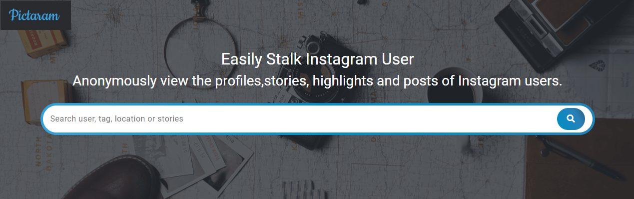 Visionneur web Instagram de Pictaram