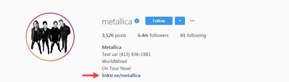 Metallica utilise un arbre de liens pour les bioliens