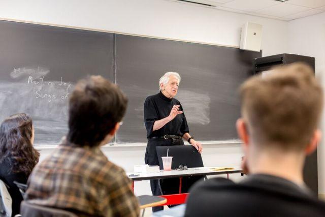 Richard J. Bernstein, Vera List Professor of Philosophy, teaches a class at The New School for Social Research