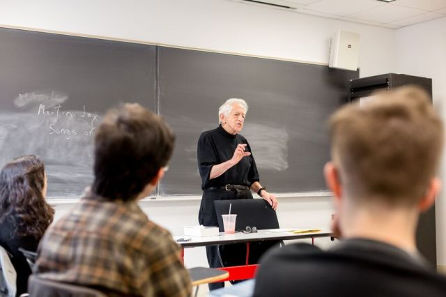 Richard J. Bernstein, Vera List Professor of Philosophy, teaches a class at The New School for Social Research