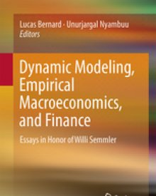 Willi Semmler (2016) – Dynamic Modeling, Empirical Macroeconomics, and Finance: Essays in Honor of Willi Semmler