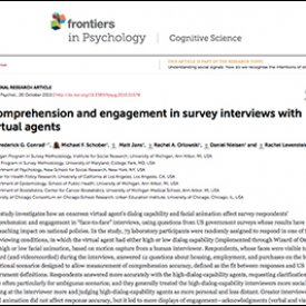 Michael Schober et al. (2015) – Comprehension and engagement in survey interviews with virtual agents