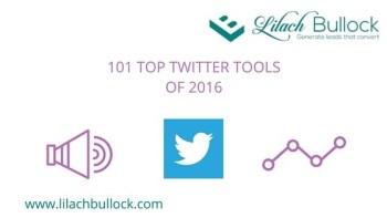 101 Top Twitter Tools 2016