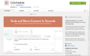 CoSchedule Google Chrome Extension
