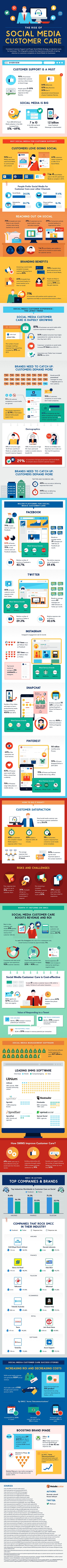 The Rise of Social Media Customer Care Infographic