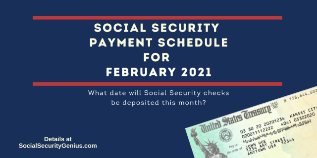 """February 2021 Direct Deposit dates for Social Security Benefit Payments"""