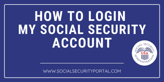 How to Login My Social Security Account