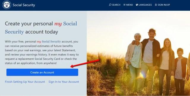 create a mySocialSecurity Account