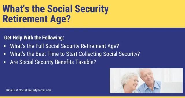 """Social Security Retirement Age"""