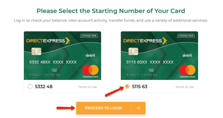 """""""How to login to Direct Express card account"""""""