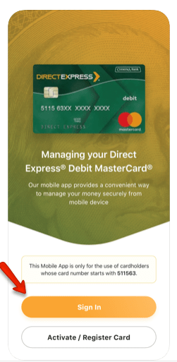 """Direct Express App login - iPhone and Android 511563"""