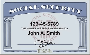 """What does a Social Security card look like - 1"""