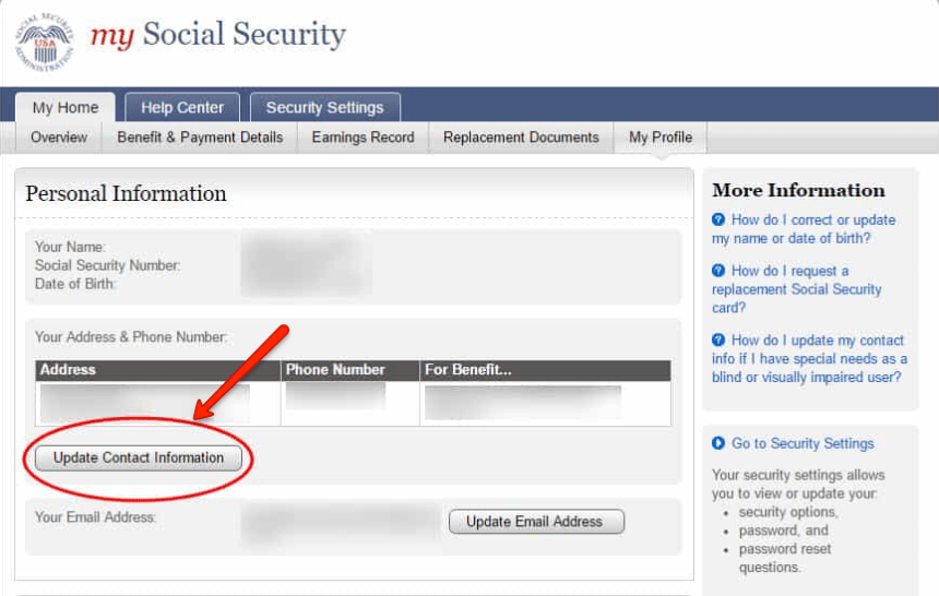 """social security change of address 4"""
