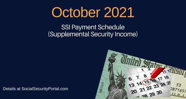 """October 2021 SSI Payment Calendar"""