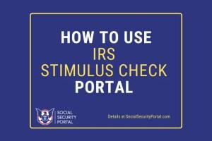 """IRS Stimulus Check Portal"""