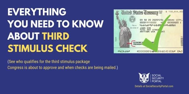 """Third Stimulus Check Eligibility and Deposit Dates"""