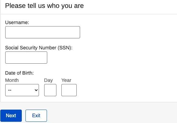 """SSA.gov forgot password 2"""