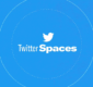 twitter logo with spaces text - chat room feature