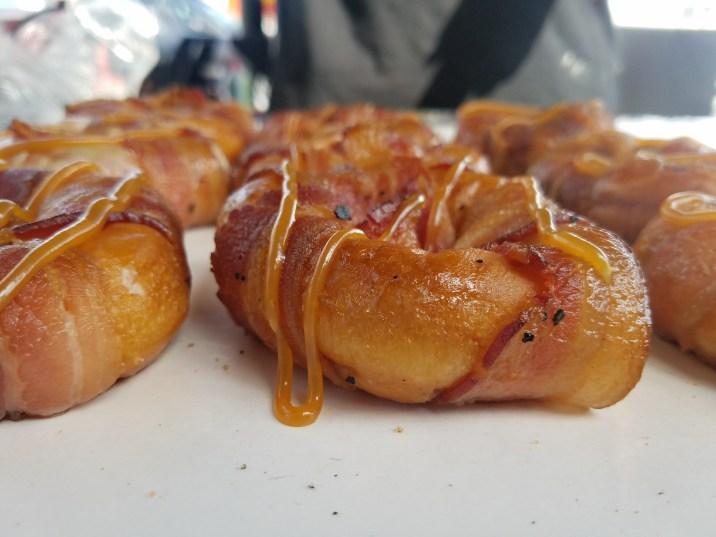 Smoked Bacon Wrapped Glazed Doughnut
