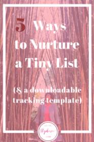 5 Ways to Nurture a Tiny List socialstephanie.com