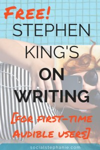 Get Stephen King's book On Writing as a free audiobook when you join audible today.