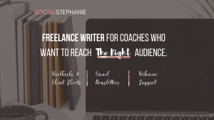 Social Stephanie Freelance writer for coaches webinar support email and online marketing