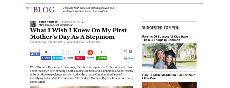 Social Stepmom Featured in The Huffington Post!