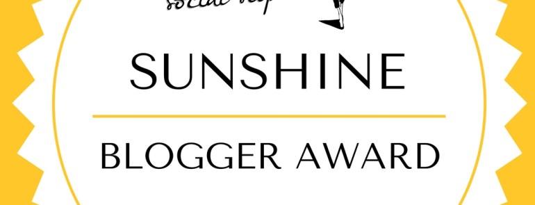 Sunshine Blogger Award Nomination!