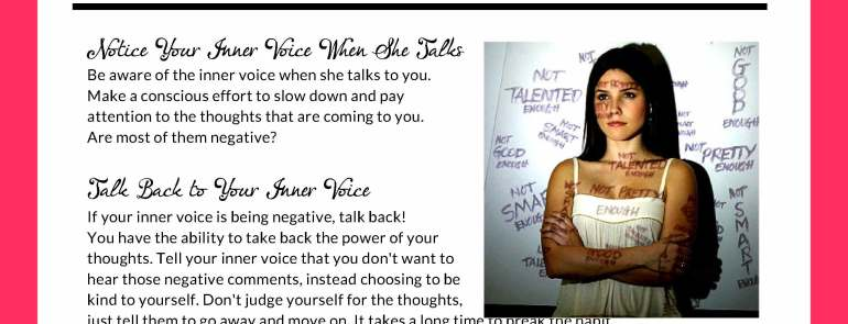 How to Stop the Negative Self Talk