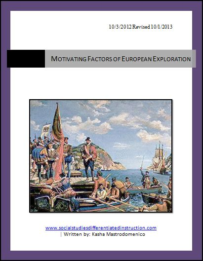 Motivating Factors of European Exploration of the Americas Lesson Plan