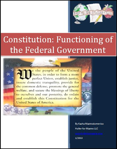 Constitution: The Functioning of the Federal Government Differentiated Instruction Lesson Plan