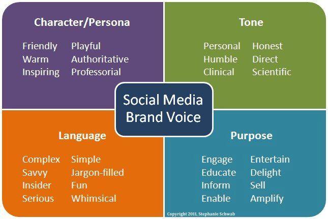 social media persona voice