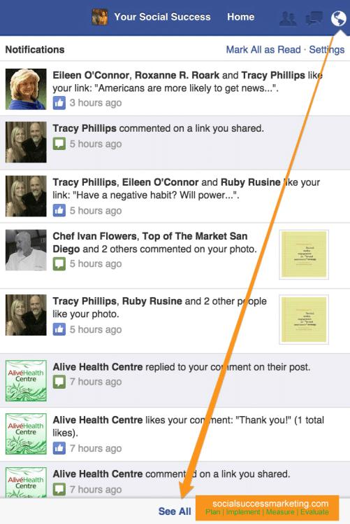 Facebook Globe Notifications