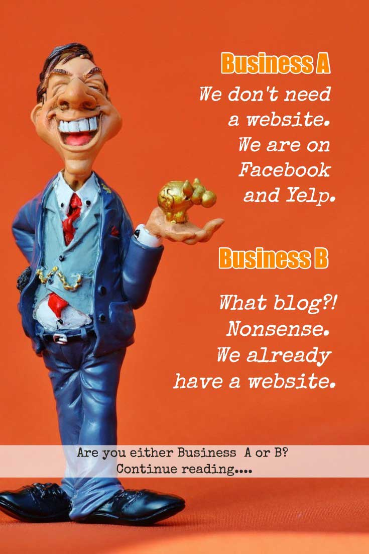 Common mistakes small business owners make about website and blogging.
