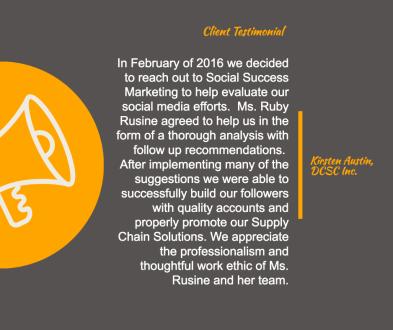 client testiomonial for social success