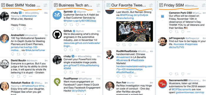 twitter list types examples