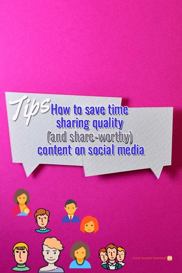 social media content time saving tips