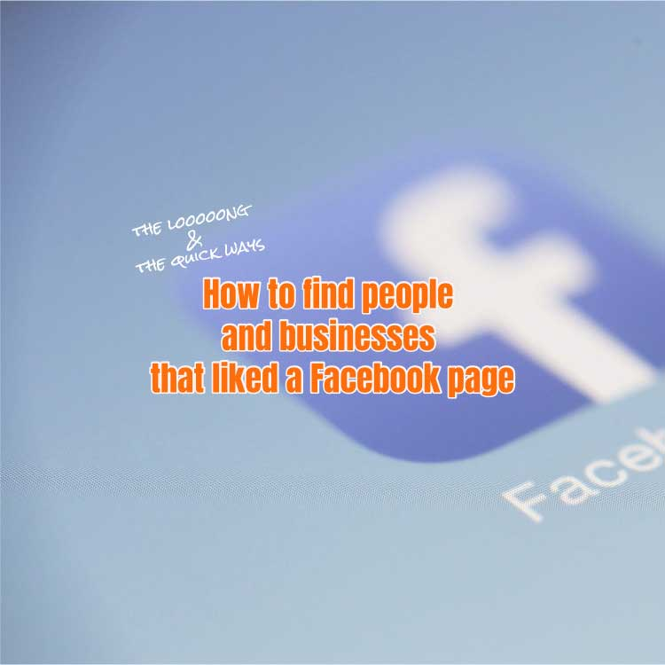find people and businesses that liked a Facebook page