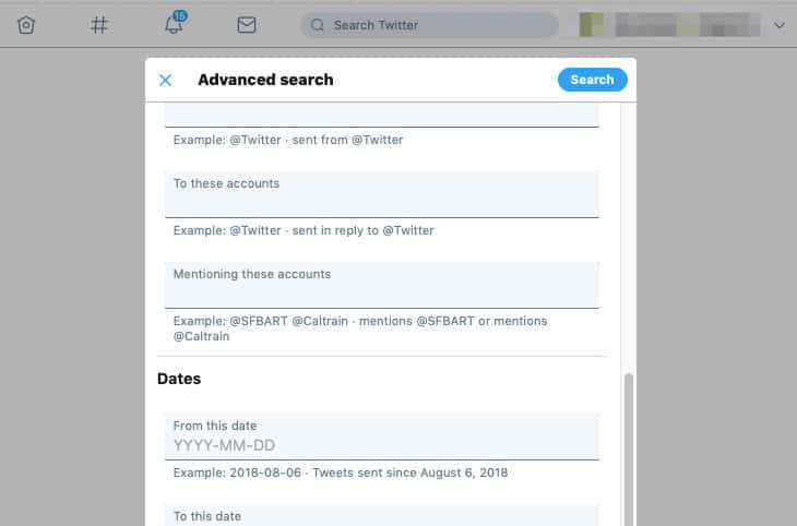 new twitter advanced search