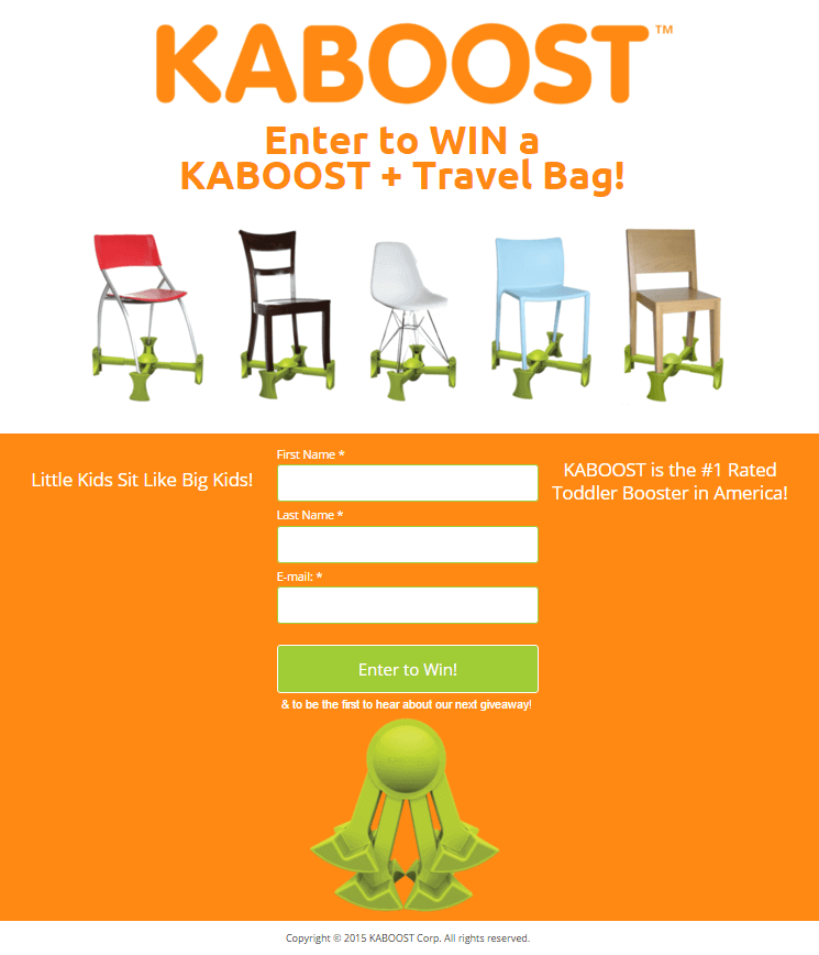 Contest Blog - Kaboost Landing Page