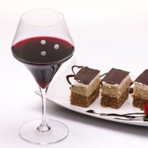 burgundy-red-wine-glasses-drops-of-joy-chocolate cake