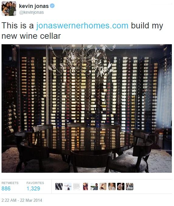 Kevin Jonas New Wine Cellar