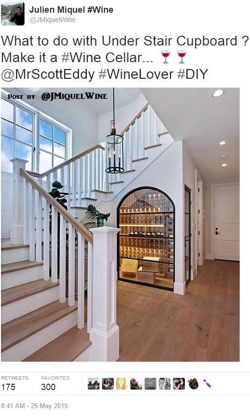 Under-Stair Cupboard Wine Cellar