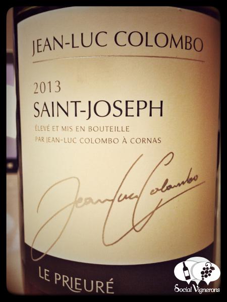 2013 Jean-Luc Colombo Saint-Joseph Le Prieure Wine Bottle Front Label Social Vignerons small