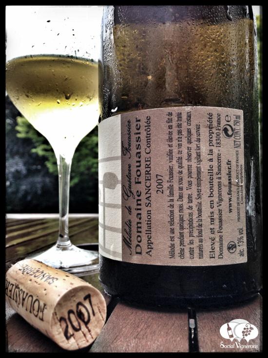 2007 Domaine Fouassier Sancerre Melodie - Wine is a Journey wine bottle cork back label small