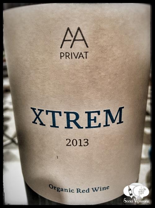 Alta Alella XTrem Organic Red Mourvedre Wine Bottle Glass back label Social Vignerons small