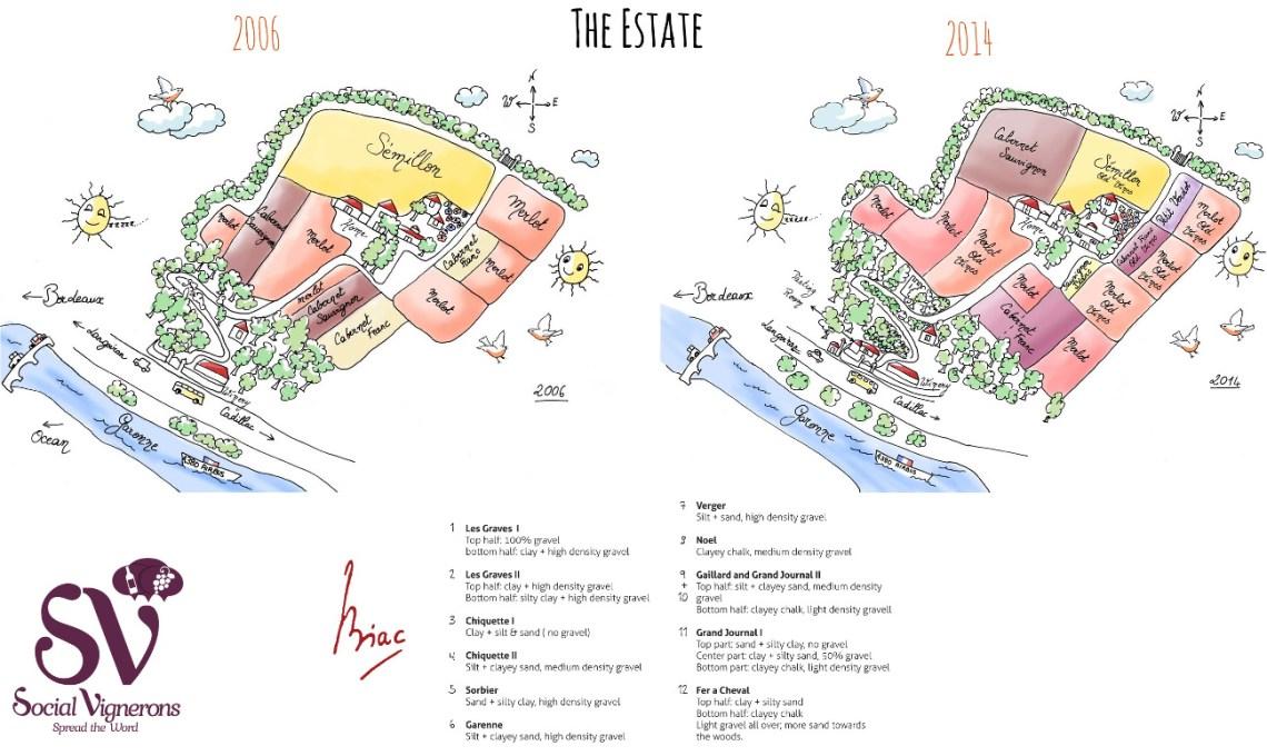 Biac Vineyard Soil Map 2006 2014 Bordeaux Wine Estate