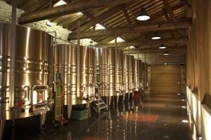 Chateau Biac Cadillac Cotes de Bordeaux satinless steel tanks fermenters winery buildings Social Vignerons